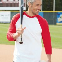 Augusta Sportswear Three-Quarter Sleeve Baseball Jersey Thumbnail